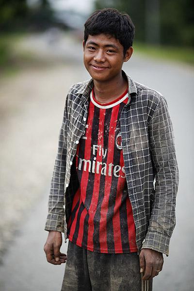 AC Milan. Brang Sengli. Rice field in Kachin State, Myanmar. 2013