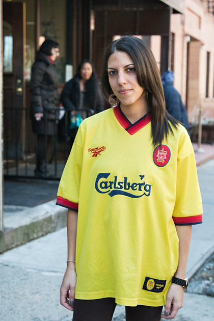 "Tanya. Liverpool. ""I started dating Andy who is a passionate Liverpool fan and that was it."""