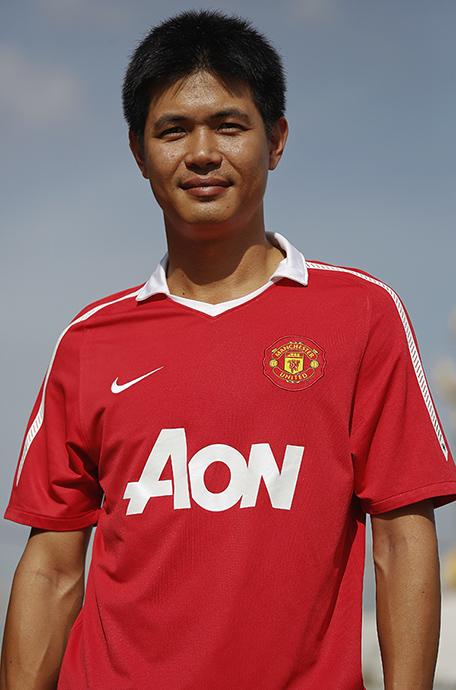 Manchester United. Ling. Aksa road, Bangkok. 2014.